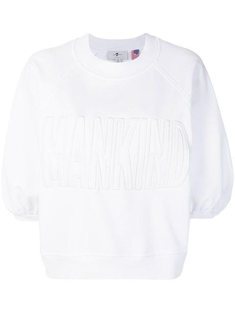 7 For All Mankind Embroidered Logo Sweatshirt