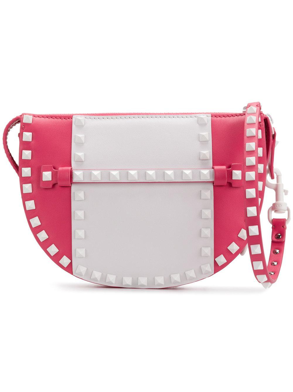 Valentino Garavani Valentino  Free Rockstud Clutch Bag - Pink