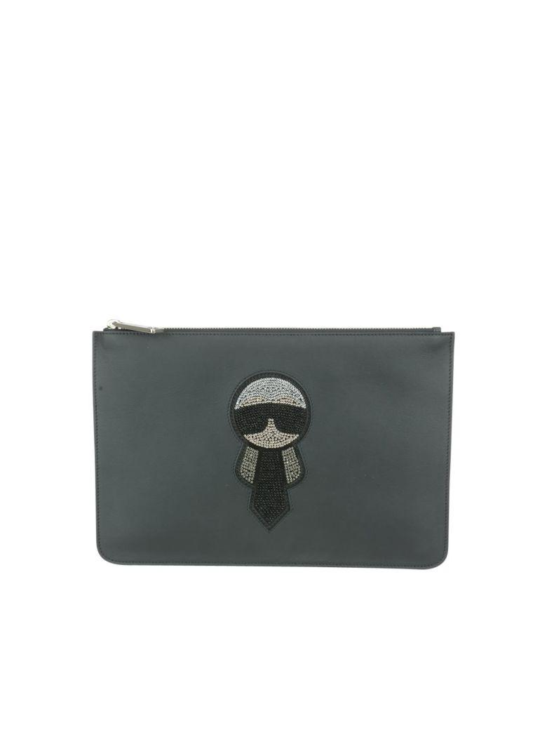 Fendi Karlito Pouch In Nero+mlc+pal