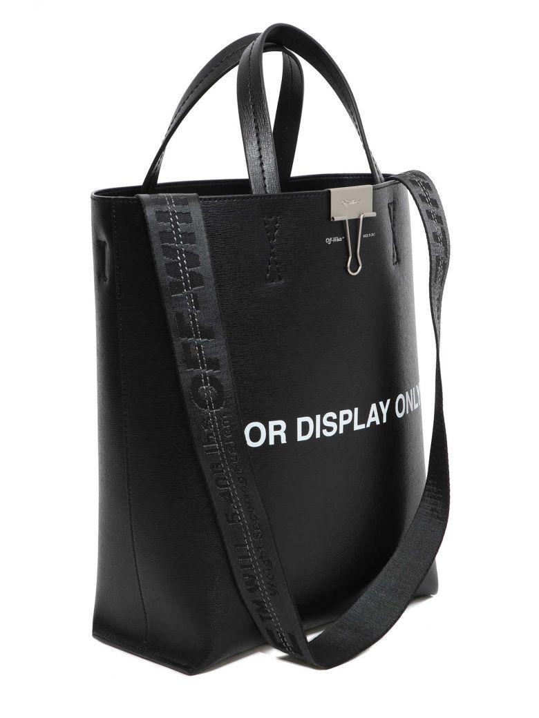 Off-white For Display Only Tote Bag In Nero