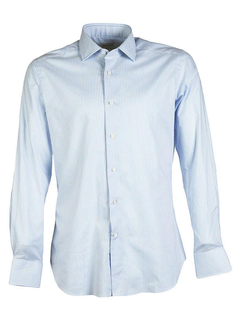 Bagutta Striped Pattern Shirt In Blue