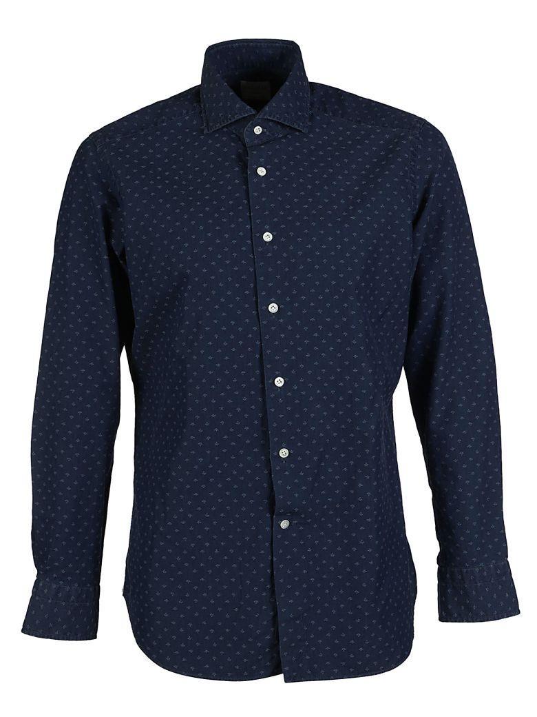 Bagutta Printed Shirt In Blu