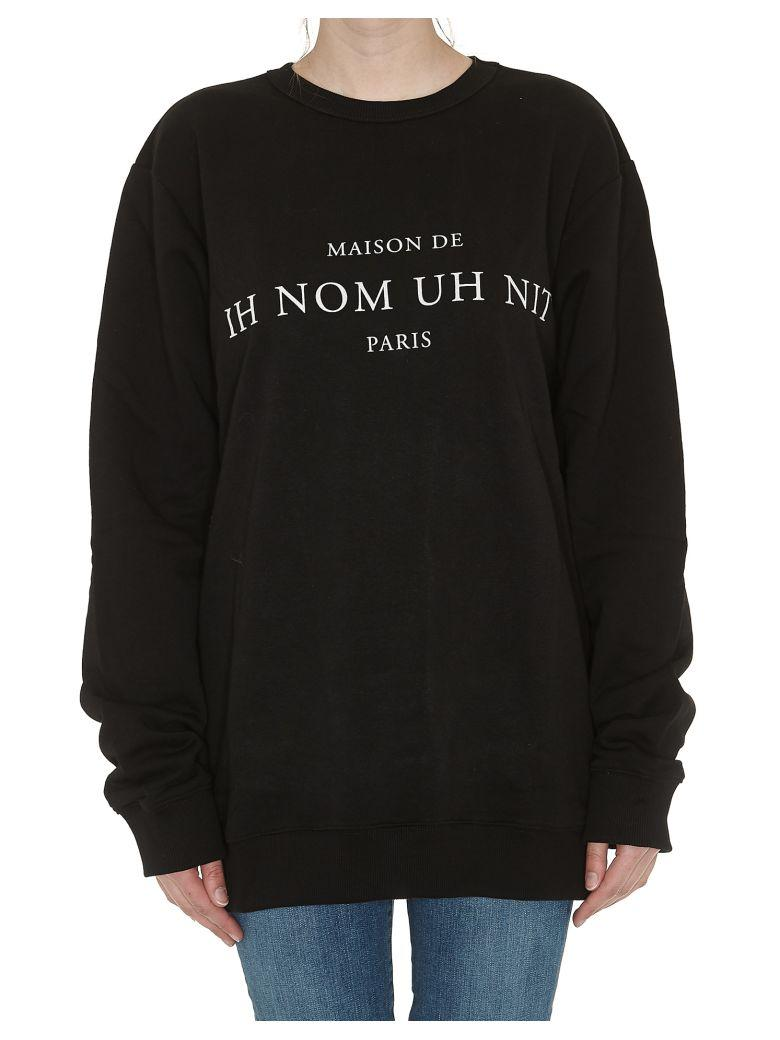 Ih Nom Uh Nit Only Logo Crew Neck Sweatshirt In Black