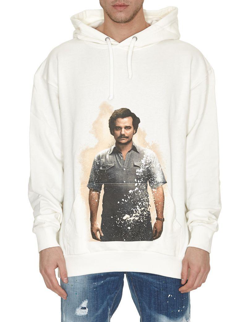Ih Nom Uh Nit Pablo Print Hoodie In Off White