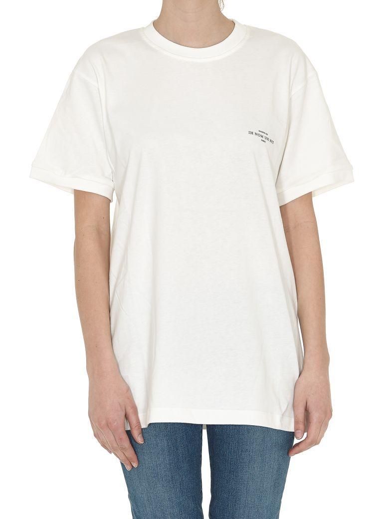 Ih Nom Uh Nit Logo+buyer T-shirt In Off White