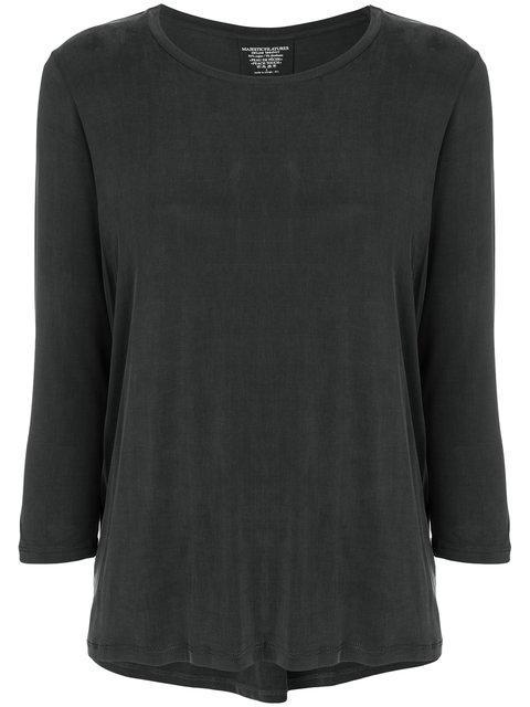 Majestic Filatures Slim Fit Jersey Top - Grey