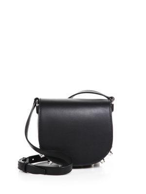 Alexander Wang Lia Mini Studded Leather Crossbody Bag In Black