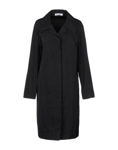 Jil Sander Overcoats In Black