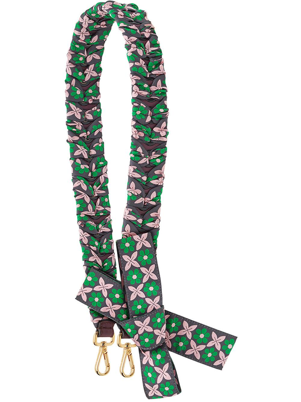 Fendi Strap You Floral Bag Strap In Multicolour