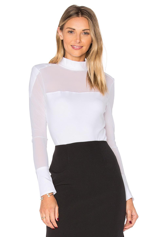 Kendall + Kylie High Neck Bodysuit In White