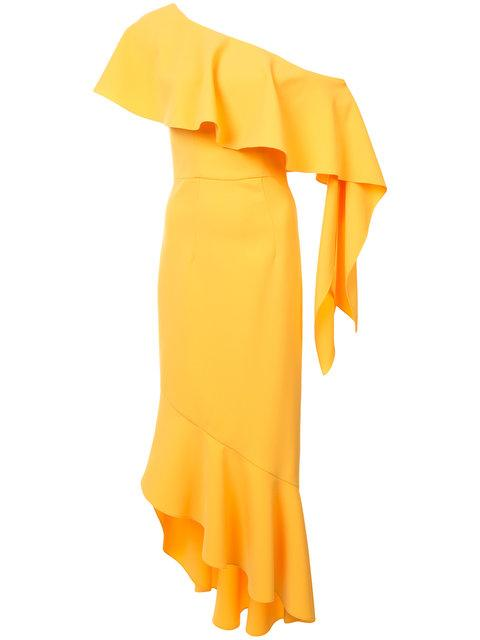 Christian Siriano Frill Trim Dress