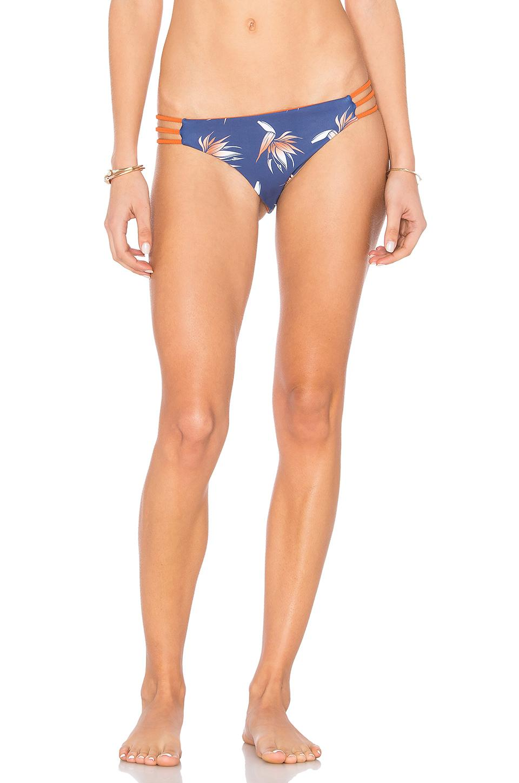 Arrow & Eve Andrea Braid Reversible Bikini Bottom In Blue