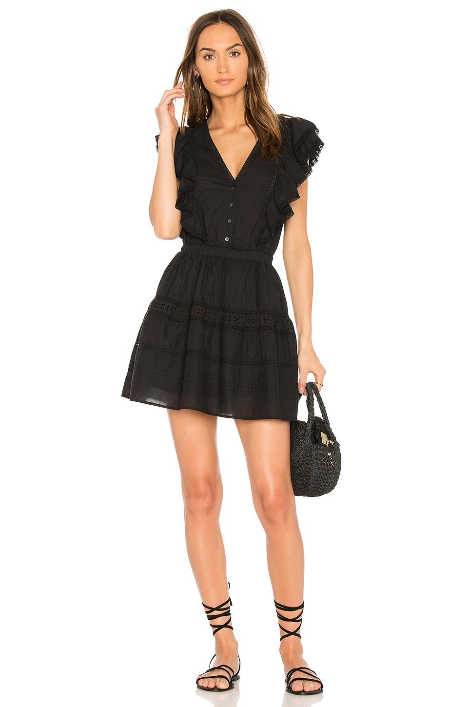 Loveshackfancy Sylvie Dress In Black