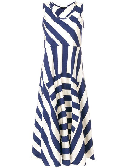 Aspesi Striped Midi Dress