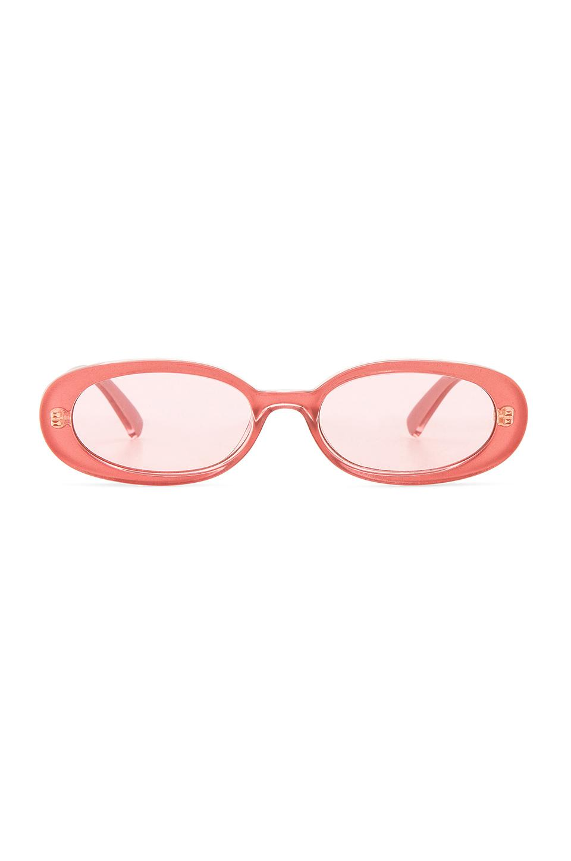 Le Specs X Revolve Outta Love In Pink. In Bubblegum Shimmer
