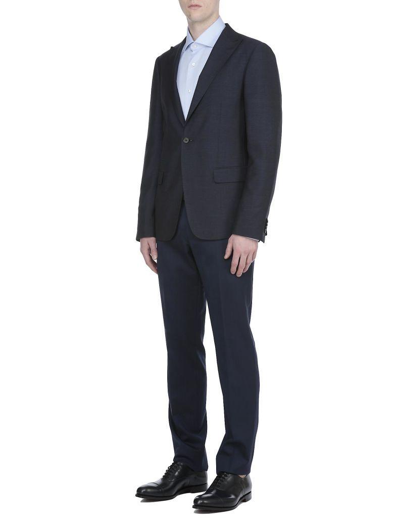 Ermenegildo Zegna Wool And Silk Blazer In Blue