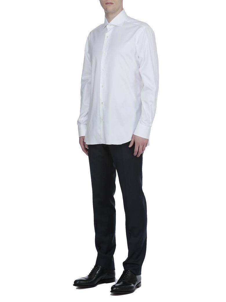Barba Napoli Cotton Shirt In White