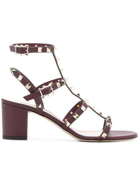 1893a4b2056 Valentino Garavani Rockstud Block Heel Sandals
