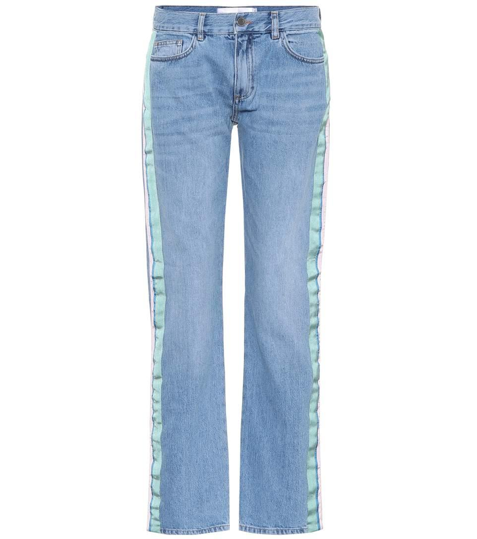 Victoria Victoria Beckham Low-rise Straight-leg Jeans In Blue