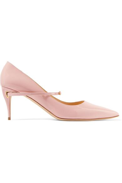 Jennifer Chamandi Lorenzo 65 Patent-leather Pumps In Pink
