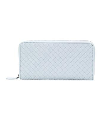 Bottega Veneta Women's  Light Blue Leather Wallet