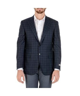Canali Men's  Blue Wool Blazer