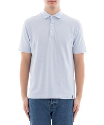 Drumohr Light Blue Cotton Polo