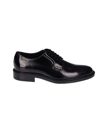Tod's Men's  Black Leather Lace-up Shoes