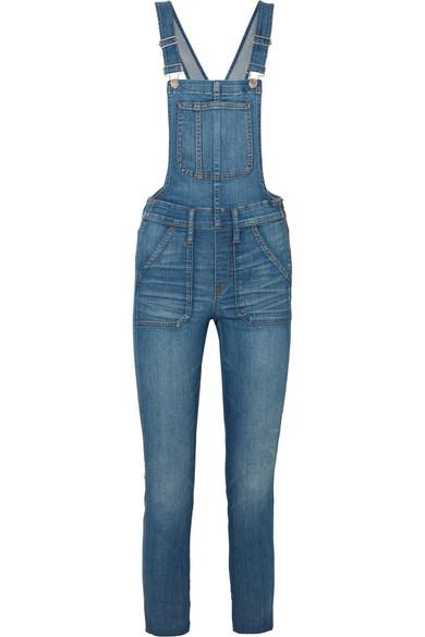Madewell Stretch-denim Overalls In Mid Denim