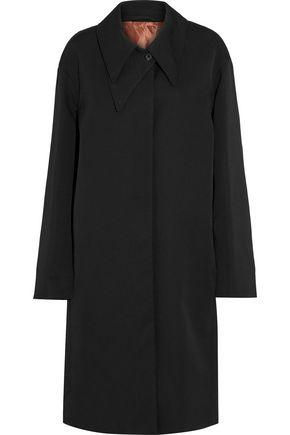 Lemaire Woman Wool-Twill Coat Black
