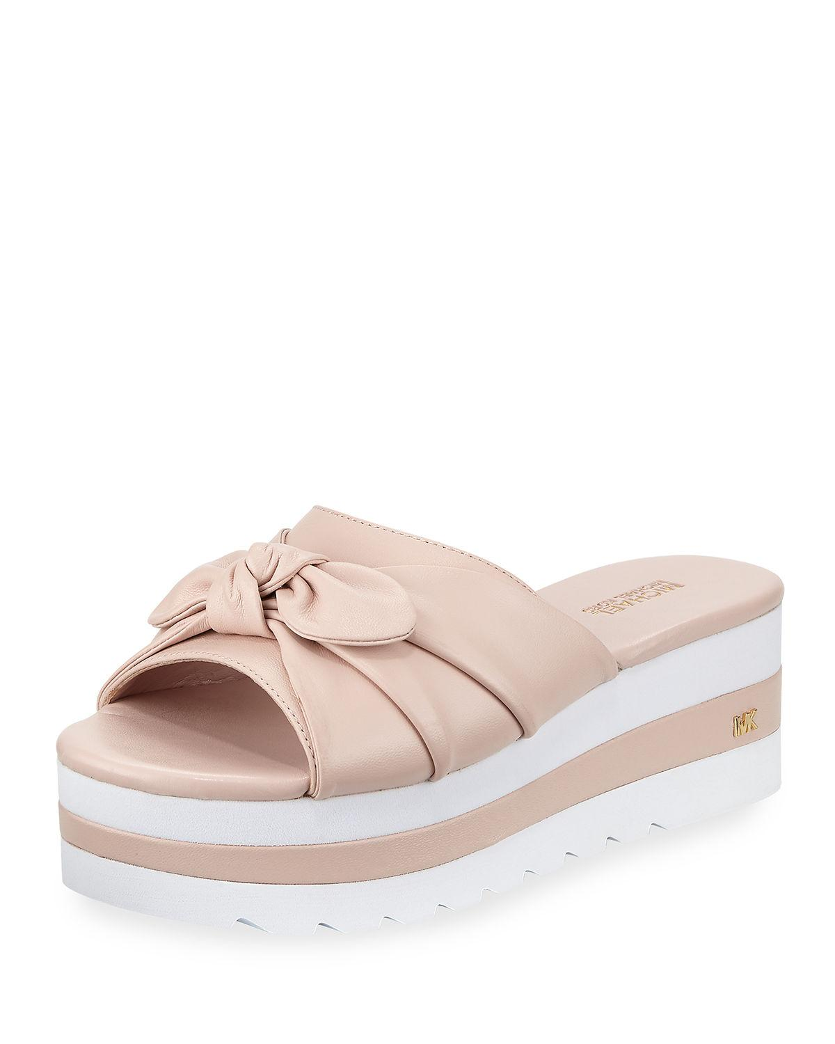 4b1691684c49 Michael Michael Kors Pippa Platform Slide Sandal With Bow In Soft Pink