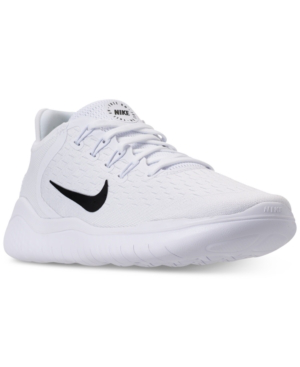 8f8809f724a Nike Men S Free Run 2018 Running Sneakers From Finish Line In White ...