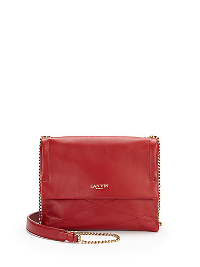 Lanvin Sugar Mini Crossbody Bag In Red
