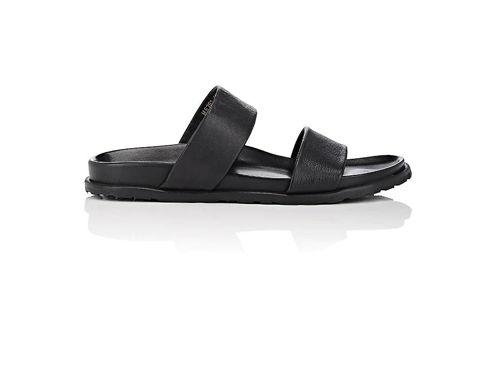 897e88703 Barneys New York Double-Band Leather Slide Sandals In Black