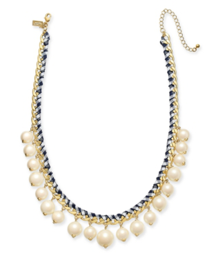 4d6901b8fcd41 Pretty Pearly Imitation Pearl Necklace in Navy Multi