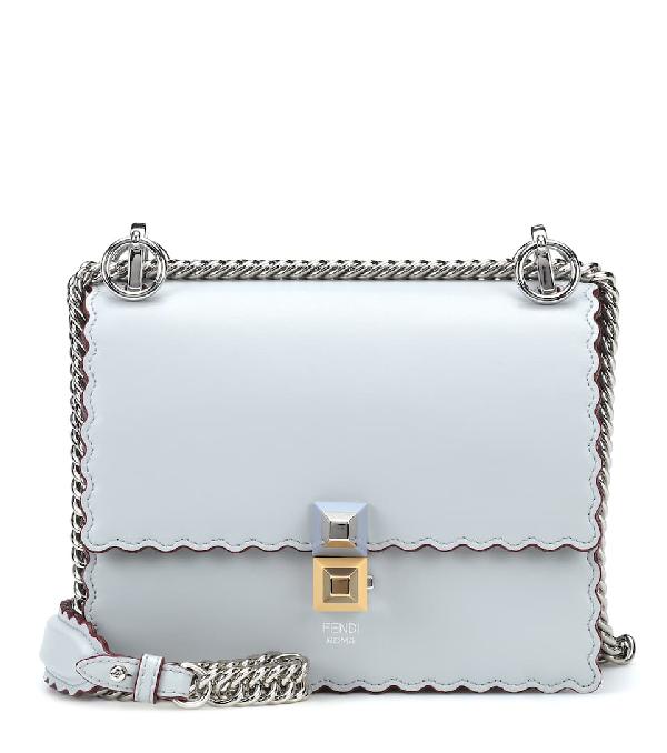 48712d1dd6 Fendi Mini Kan I Scalloped Leather Shoulder Bag - Blue In Grey ...