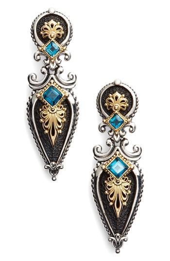 Konstantino Drop Earrings In London Blue Topaz
