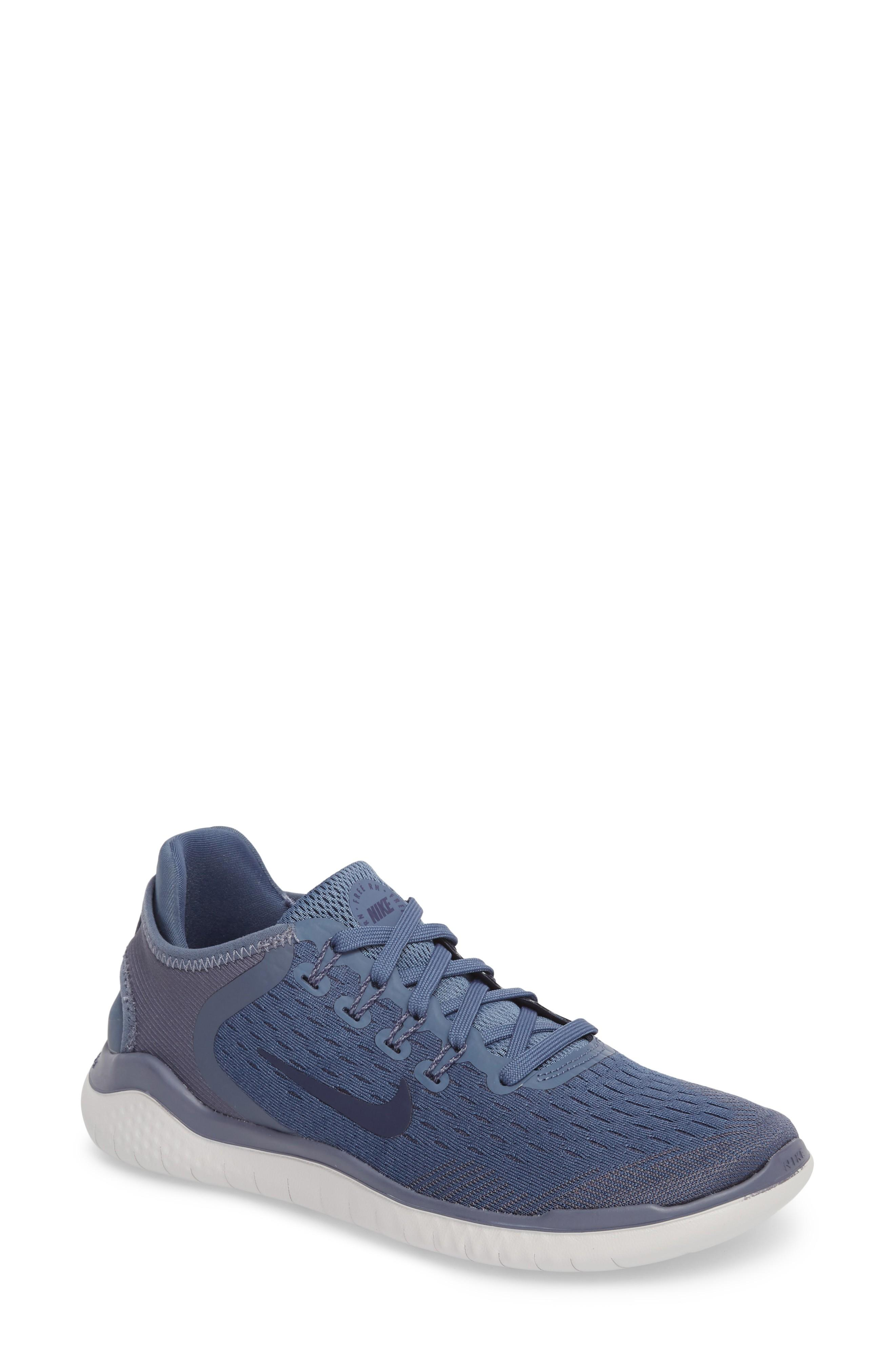 cheaper 22323 e2136 Nike Women s Free Rn 2018 Lace Up Sneakers In Diffused Blue  Neutral Indigo