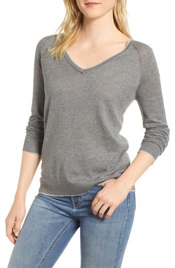ccd47fef9e8426 Velvet By Graham & Spencer Lux Cotton Sweater In Heather Grey   ModeSens