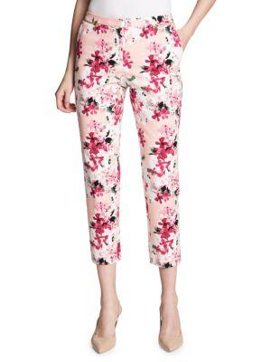 Calvin Klein Printed Ankle-Cropped Pants In Nectar