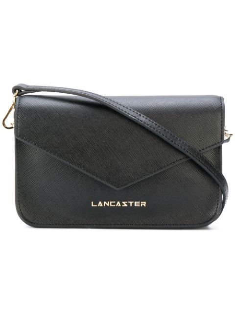 Lancaster Fold Over Cross Body Bag In Black