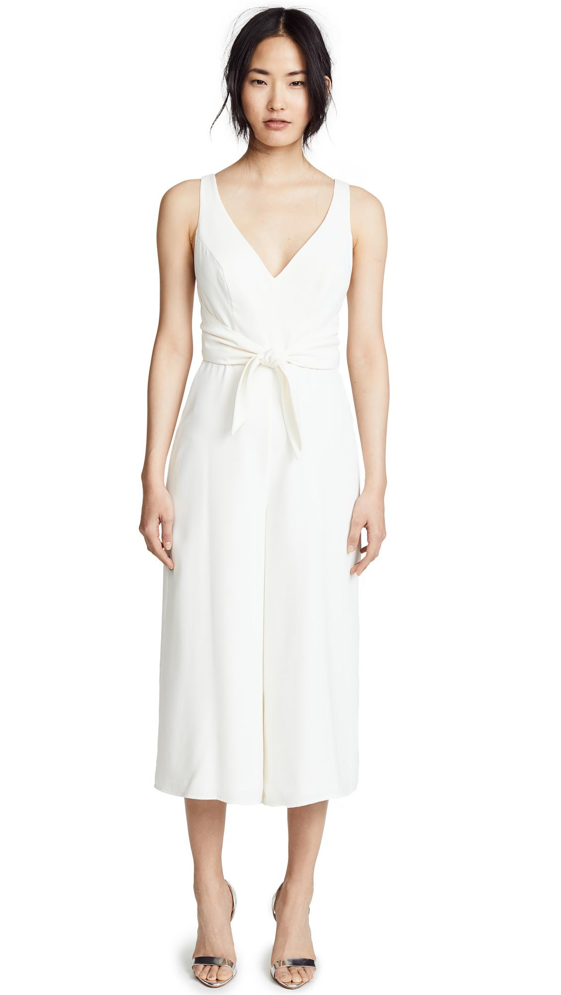 Amanda Uprichard Charter Jumpsuit In Ivory