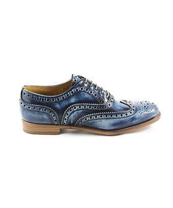 Church's Women's  Blue Leather Lace-Up Shoes