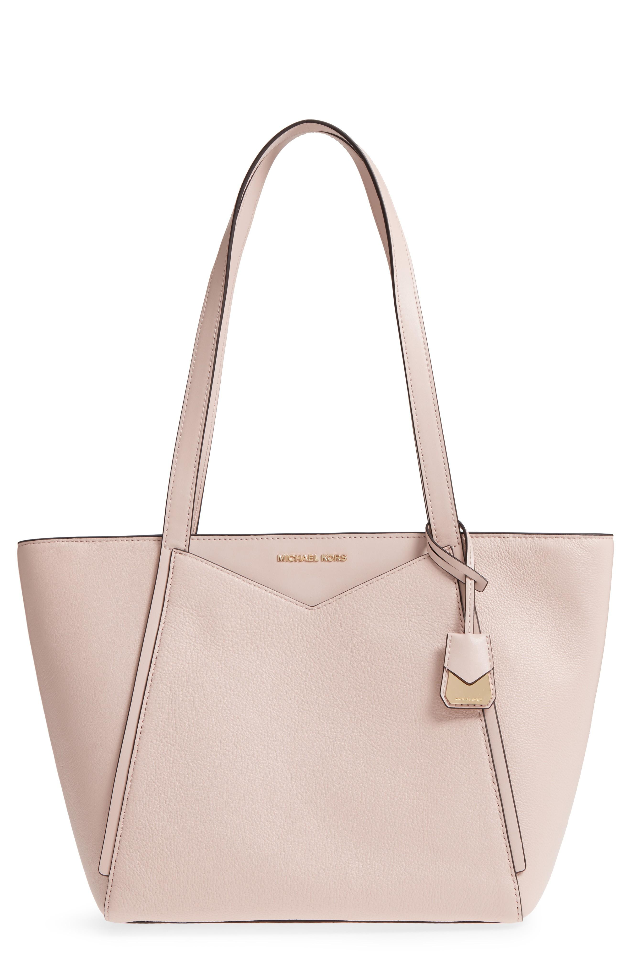 cd7c395c9a54 Michael Michael Kors Small Whitney Leather Tote - Pink In Soft Pink ...