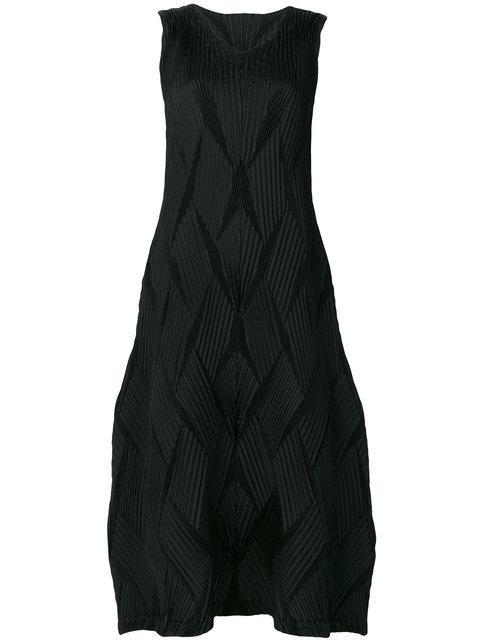 Issey Miyake Textured Stitch Midi Dress