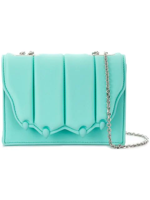 Marco De Vincenzo Flap Crossbody Bag In Blue