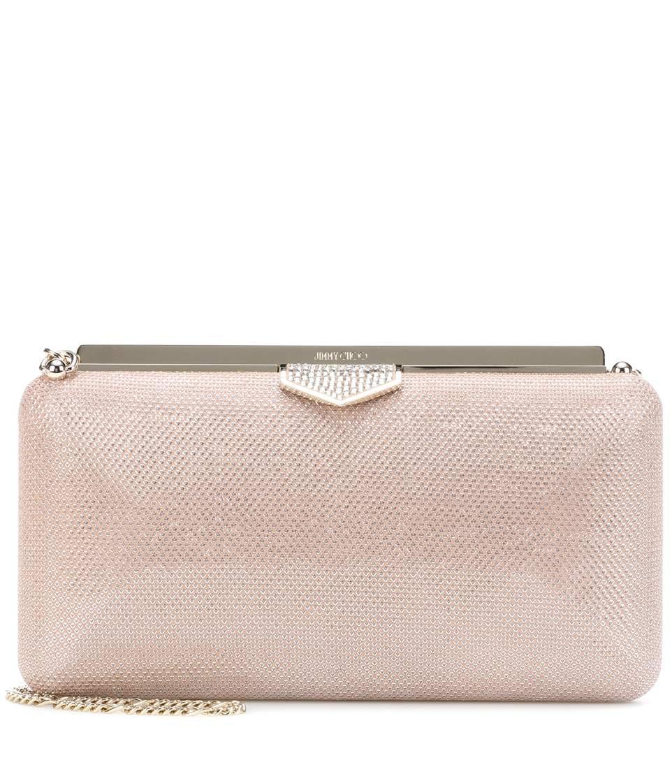 18cdc365fb Jimmy Choo Ellipse Clutch In Pink | ModeSens