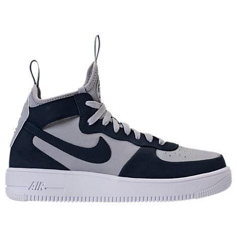 sale retailer c8f01 d5769 Nike Men s Air Force 1 Ultraforce Mid Casual Shoes, Grey Blue