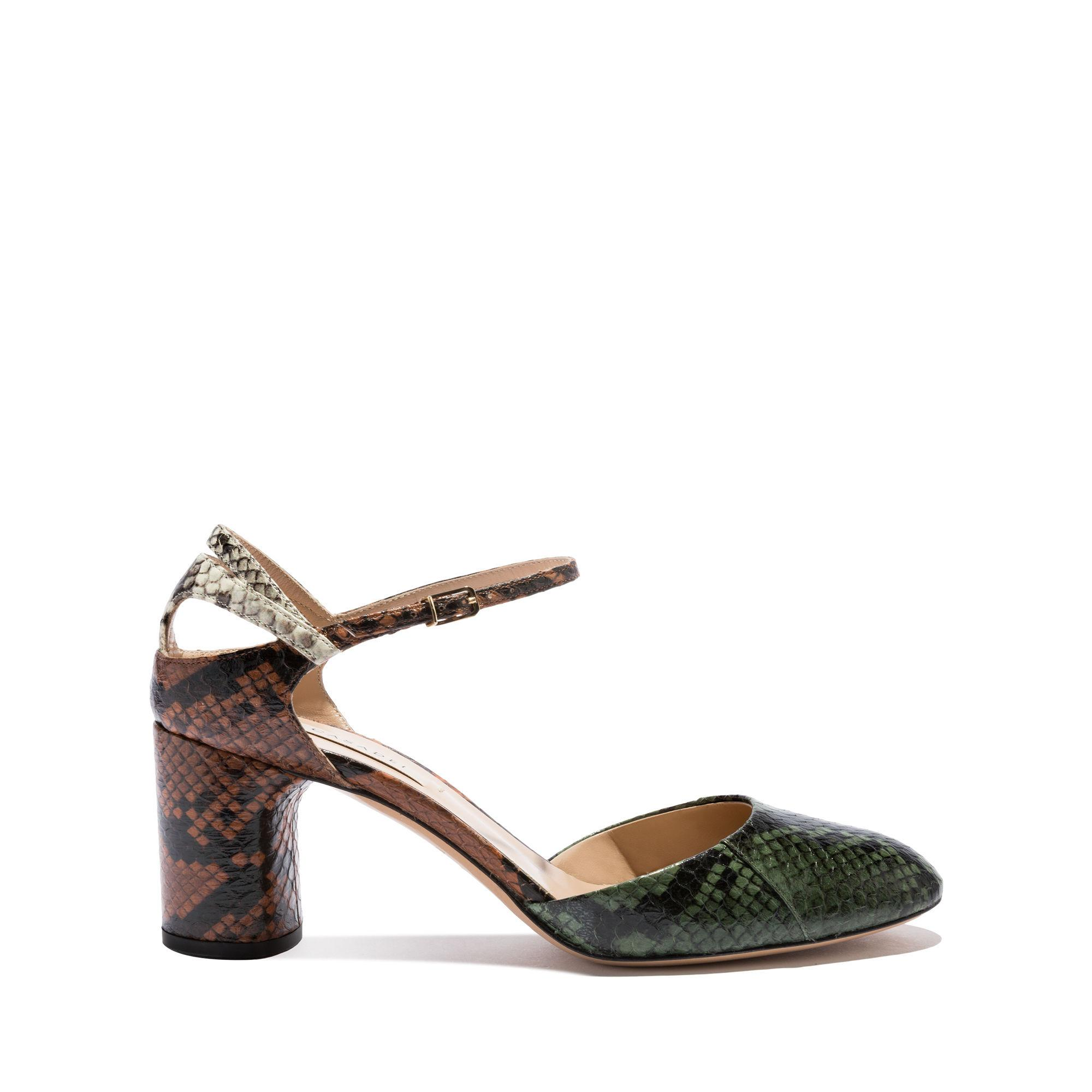 Casadei Daytime In Kombu Green, Cuoio And Stone