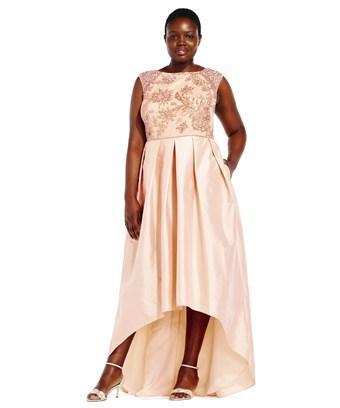 d83c3c9bcd8 ADRIANNA PAPELL. Adrianna Papell Short Sleeve Taffeta Ball Gown With Beaded  Bodice ...